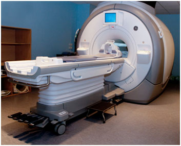 Photograph showing an MRI scan