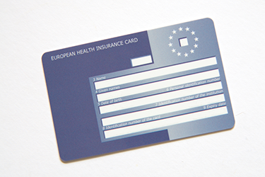 Photograph of EHIC card