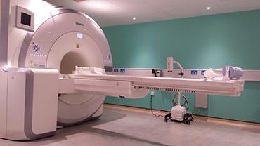 Photograph of a PET MRI machine