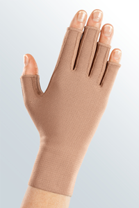 Photograph of woman with glove
