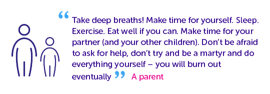Quotes from parents - take deep breaths