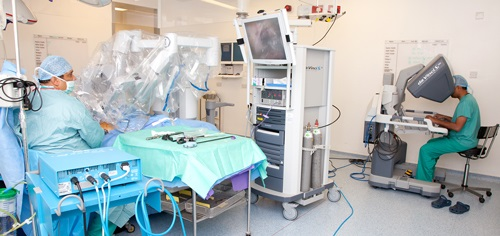 Photograph of Robotic surgery for prostate cancer