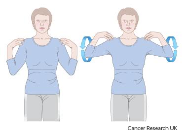 Diagram showing shoulder raise